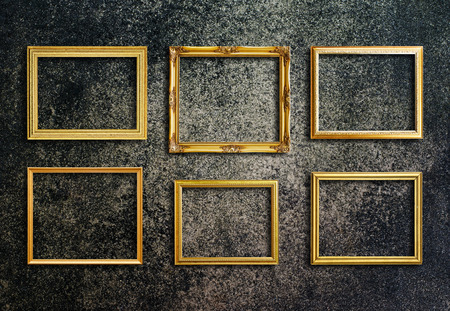 Old picture frame on grunge wall. Stock Photo - 26306509