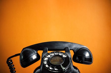 telephone receiver: Old telephone  Stock Photo