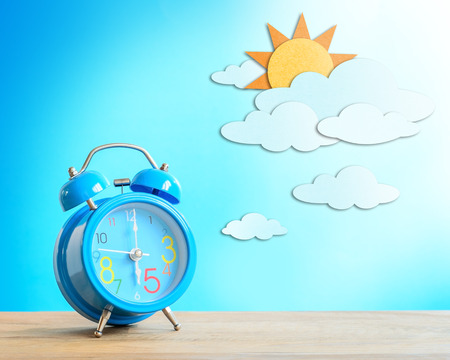 Alarm clock and paper craft, Day Sky photo
