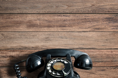 contact icons: Old telephone.