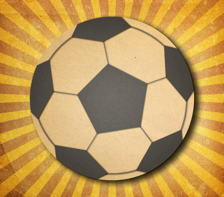red ball: Ball on grunge background., Paper cut design. Stock Photo