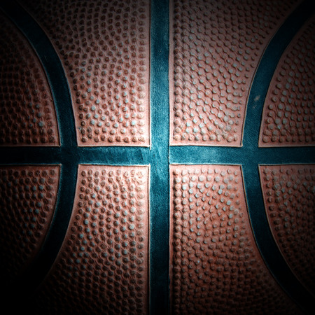 Closed up basketball for background. photo