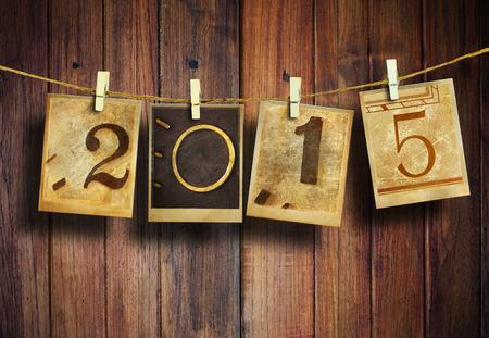 New year 2015 vintage style. Stock fotó - 33967787
