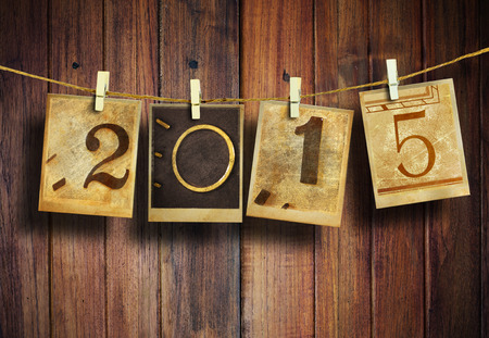 nouvel an: Nouvel an 2015 de style vintage. Banque d'images