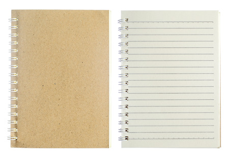 block note: Note book on white background.