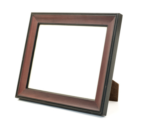 Old picture frame on white background. photo
