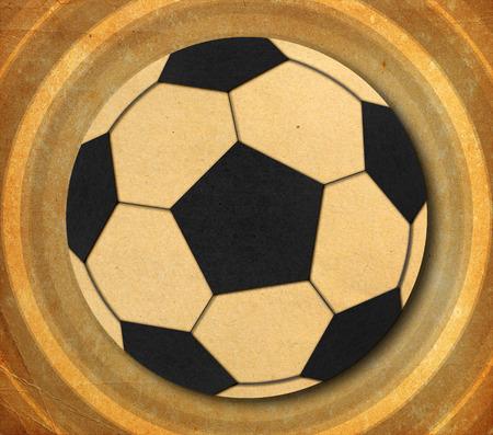 Ball on grunge background., Paper cut design. photo