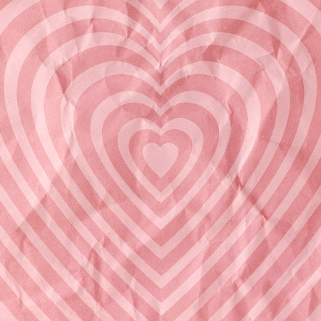 patten: Hearts patten on paper texture background. Stock Photo