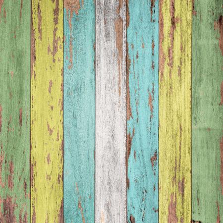 Vintage wood background with peeling paint. Standard-Bild