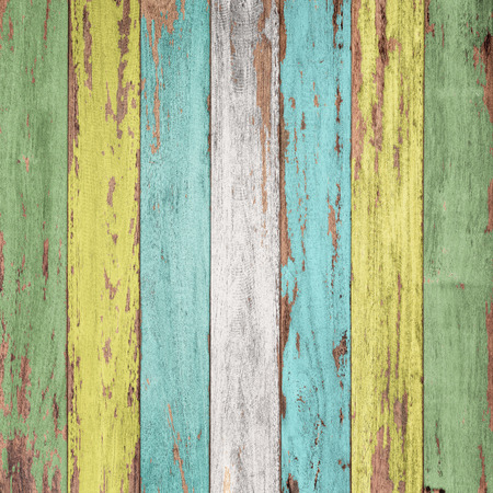 Vintage wood background with peeling paint. Imagens