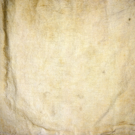 gold flax: Old fabric texture background. Stock Photo