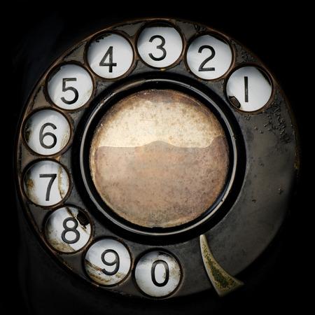 クローズ アップ古い電話。