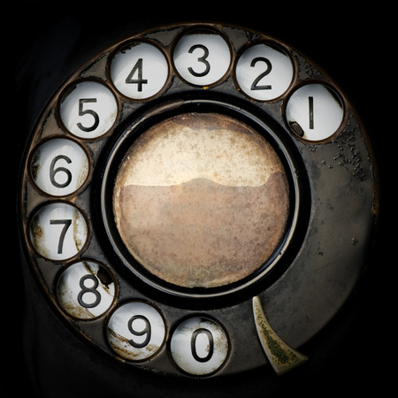 Nahaufnahme Old Telephone. Standard-Bild - 38400115