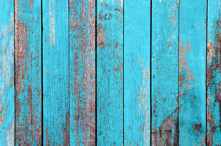 Vintage wood background with peeling paint. Stock Photo