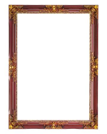 Oude foto frame op een witte achtergrond.