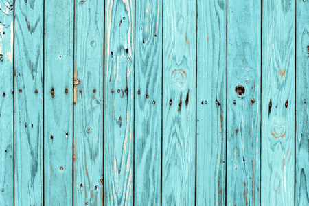 wooden fence: Vintage wood background with peeling paint. Stock Photo