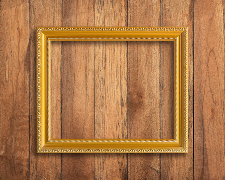 picture frame old picture frame on vintage wood wall stock photo