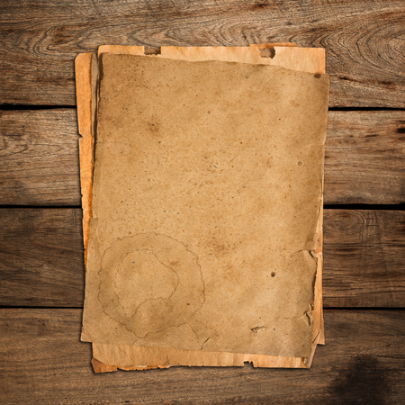 old papers: Old papers on old wood. Stock Photo