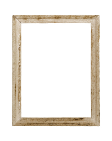 old frame: Old picture frame on white background.