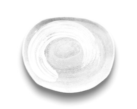 Blank white dish isolated on white background. Stock fotó