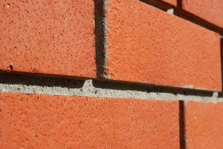 Red Bricked Wall In Perspective photo