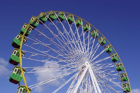 Giant Wheel isolated in blue sky background photo