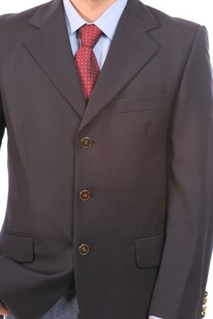 Detail of a suit and a tie, isolated Stock Photo - 3018107