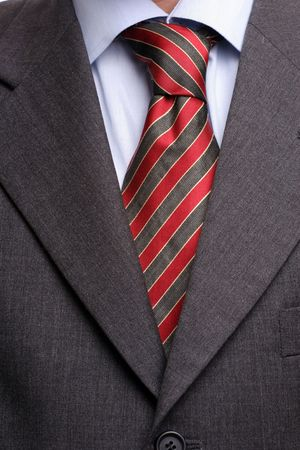 Detail of suit and tie, isolated photo
