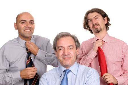 Business team, posing in white background photo