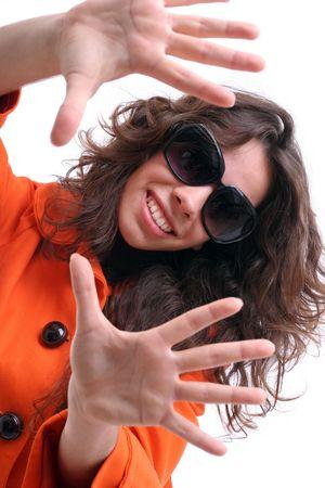 Bella donna con gli occhiali da sole - concentrarsi sugli occhi  Archivio Fotografico - 3582799
