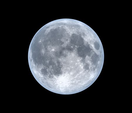 Moon, isolated over black Stock Photo - 5231297