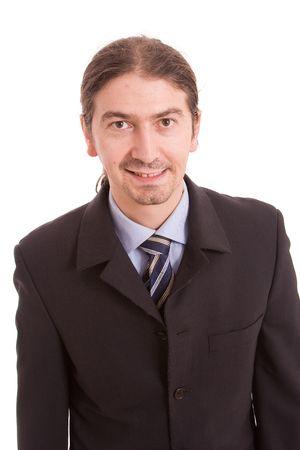 Engineer posing isolated over white background photo