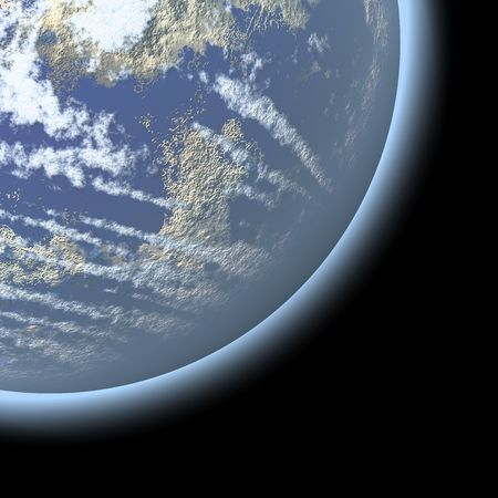 Photography of planet earth, isolated over black Stock Photo - 6516200