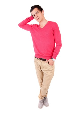 Young casual boy posing isolated Stock Photo - 7217459