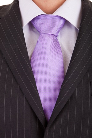 silk tie: Detail of a suit and a tie Stock Photo