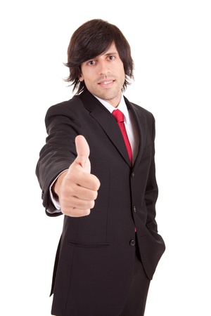 Business man showing thumb up Stock Photo - 11935849