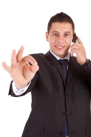 Young Business man signaling ok Stock Photo - 11935913
