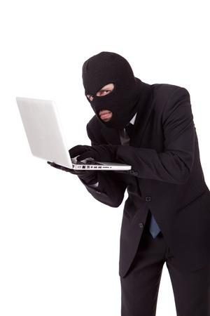 Computer Hacker in suit and tie photo