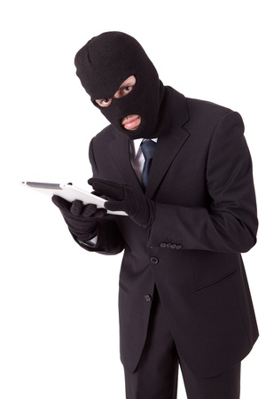 Computer Hacker in suit and tie photo