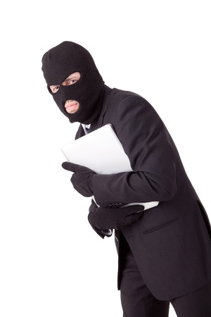 Disguised computer hacker Stock Photo - 13067427