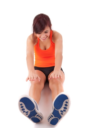 Young woman in great shape - fitness concept Stock Photo - 13353118