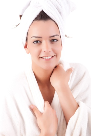 Beautiful young woman with a clean skin Stock Photo - 13353126