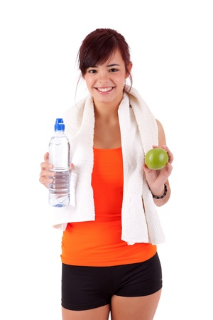 Young woman in great shape - fitness concept Stock Photo - 13852783