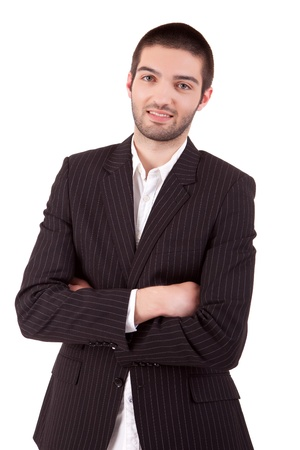 sucessful: Young and sucessful business man posing