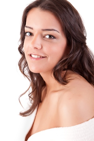 Beautiful young woman with a clean skin Stock Photo - 13840448