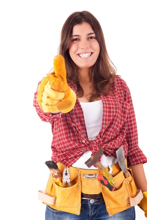 sexy construction worker: Sexy young woman construction worker