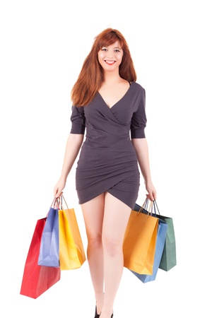 Young and beautiful woman with shopping bags Stock Photo - 15264315