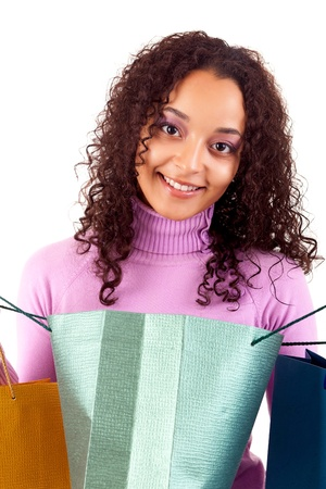 Young and beautiful woman with shopping bags Stock Photo - 16472706