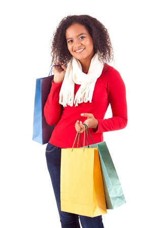 Young and beautiful woman with shopping bags Stock Photo - 16547822