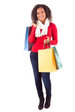 Young and beautiful woman with shopping bags Stock Photo - 16547972